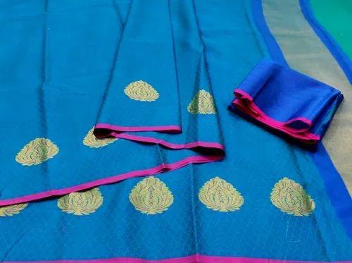 Banarasi Kora Muslin Soft Silk Saree
