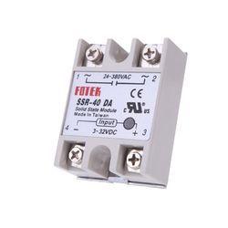 Solid State Relay Module DC To AC SSR-40DA 3-32VDC/24-380VAC 40A