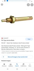 Teknic Hexagon Head SS Pin Type Anchor Bolt, For Industrial
