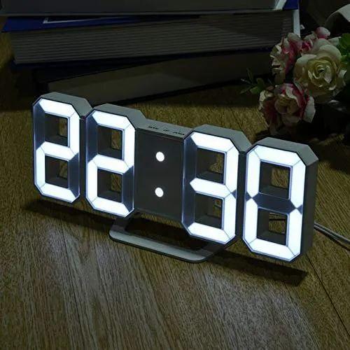 Modern Digital Led Table/wall Hanging Alarm Clock Watch, 24 Or 12 Hour  Display