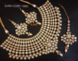 d7c4cab2d Satyam Jewellery Gold plated copper choker necklace set for women jewellery
