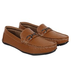 Mens Casual Brown Loafer Shoes, Packaging Type: Box