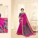 Pink Kalamkari Silk Saree