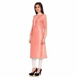 Ladies Fancy Silk Kurtis