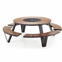 Sunny Overseas Plain Wooden Canteen Table, Seating Capacity: 8 Seater