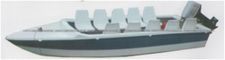 Multi Seater Motor Boat without Engine