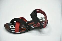 Ladies Red And Black Slipper