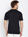 100% Cotton Men Half Sleeve Self Design Round Neck T-Shirt