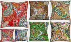 Kantha Paisely Design Cotton Cushion Cover