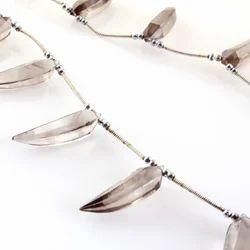 Smokey Quartz Lady Finger Shape Beads