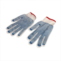 Blue PVC Dotted Hand Gloves