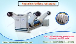 Hydralic shaftless reel stand