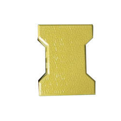 60 mm Yellow Interlocking Tile