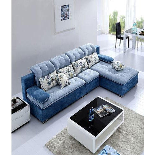 Velvet 4 Seater Corner Sofa Set