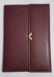 Rectangular Three Fold Leather Conference File Folder, Packaging Type: Carton