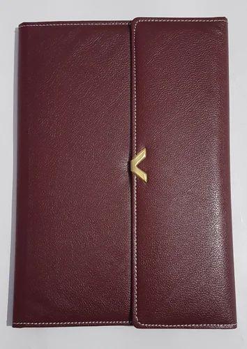 Three Fold Leather Conference File Folder