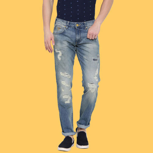 43f3686b1 Rough Blue Ripped Denim Jeans, Rs 550 /piece, J K International | ID ...