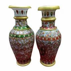 Multicolor Marble Flower Pot
