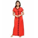 Ladies Red Satin Nightgown