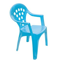 Blue PVC Plastic Chair