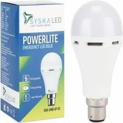 Ceramic Syska Cool White LED Bulb, Mounting Type: Wall Mounting, E40