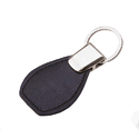 Leather NDM Black Keyring