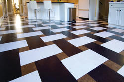 Maroon And Black Natural Clay And Ceramic Floor Tiles, 15-20 Mm
