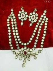 Kundan 3 Layer Party Wear Set