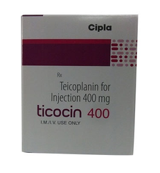 Teicoplanin For Injection 400 Mg