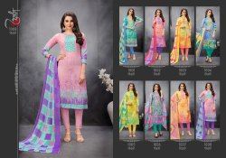 Designer Printed Cotton Salwar Suits