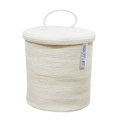 Personalized Woven Storage Basket Cotton Basket Set with Cover