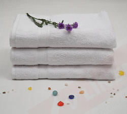 Plain White Terry Towel