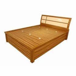 Modern Brown Modular Wooden Bed