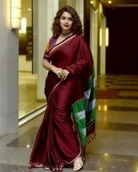 HONAWAD TEXTILES Work Party Wear Saree, With blouse piece, 6.20