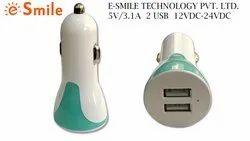 5V/3.1 Amp, Green, BIS Certified, Fast Charging, Smart Car Charger