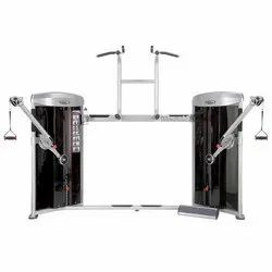 Fitness World Dual Cable Column And Chin Up And Dip Machine