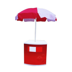 Promo Table With Umbrella, For Advertising