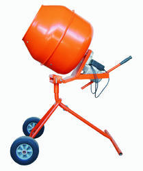 Electric Engine 1.5 Hp Cement Mixer, Drum Capacity: 200 l