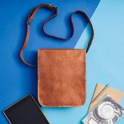 Long Leather Messenger Bag