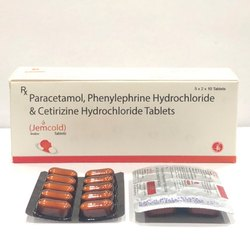 Paracetamol, Phenylephrine Hydrochloride & Citrizine Hydrochloride Tablet