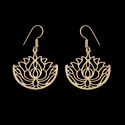 Gold Plated Brass Material Spiral Fashion Earrings