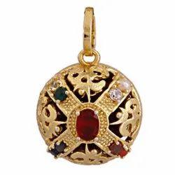 Original Rudraksha Gold Plated Pendant