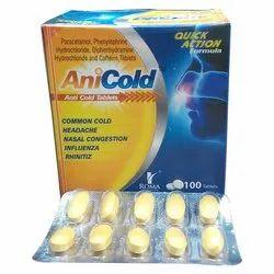 Paracetamol,Caffeine,Phenylephrine,Diphenhydramine Hcl Tablet