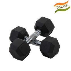 Gym Rubber Hex Dumbbell