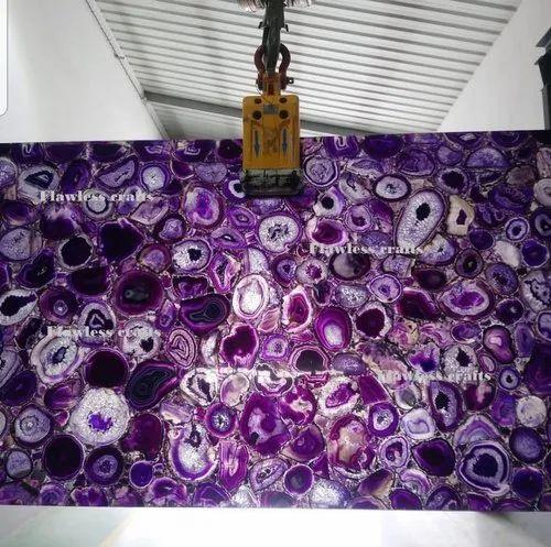 Agate Purple Slab