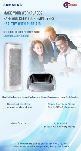 Automatic HEPA SAMSUNG AIR PURIFIER AX7000, 1 YEAR