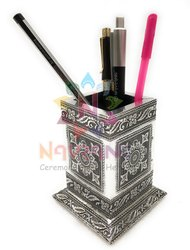 Custom-Made Black Pen Stand, for Promotional Gifts, Size: 3 X 3 X 4 Inch