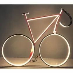 Aluminium Extruded & PC Cover Warm White Bicycle Design LED Decorative Light, for Decoration, Plug-in