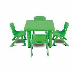 Maruthi Enterprises Green Play Square Table
