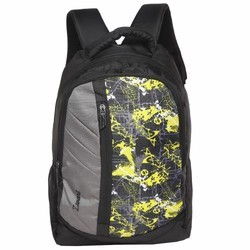 Yellow Polyester Free Size Backpack